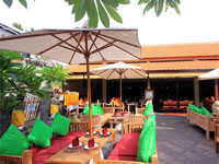 out door restaurant at adi jaya hotel